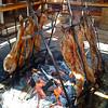 Cordero asado al palo,Punta Arenas, Chile
