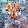 Cordero asado al estilo patagónico,El Bolsón, Argentina