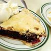 Pie de marionberry con helado de vainilla,Beaverton, Oregón, United States