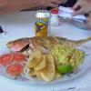 Pargo rojo frito,Playa Coronado, Panama